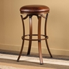 "Kelford 26"" Backless Swivel Counter Stool in Antique Bronze"