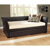 Malibu Brown Leather Daybed with Trundle