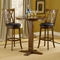 "Mansfield 30"" Swivel Bar Stool - Brown Cherry, Black Seat - HILL-4975-832"