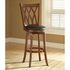 "Mansfield 24"" Swivel Counter Stool - Brown Cherry, Black Seat"