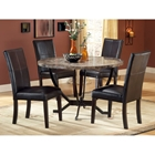 Monaco Round Dining Table with Leather Chairs