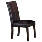 Monaco Brown Leather Parson Chair