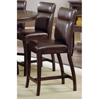 "Nottingham 24"" Counter Stool - Brown Leather"