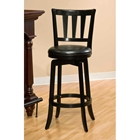 "Presque Isle 26"" Swivel Counter Stool - Black Finish, Black Seat"