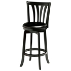 "Savana 25.5"" Swivel Wood Counter Stool - Black"