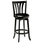"Savana 30"" Swivel Wood Bar Stool - Black"