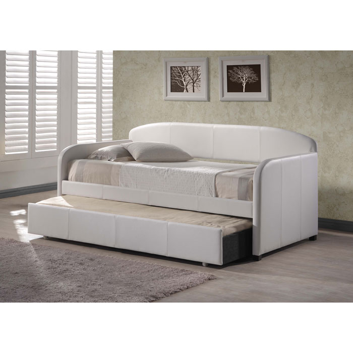 Springfield White Daybed and Trundle Set - HILL-1642DBT