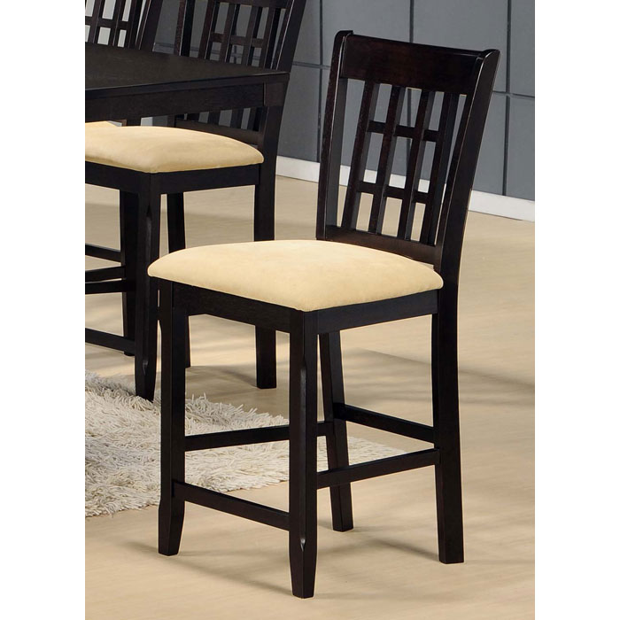 "Tabacon 24"" Non-Swivel Counter Stool in Dark Cappuccino"