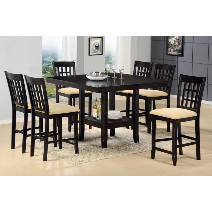 Tabacon 7 Piece Counter Set in Dark Cappuccino - HILL-4155DTBGS7
