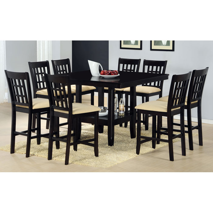Tabacon 9 Piece Counter Set in Dark Cappuccino