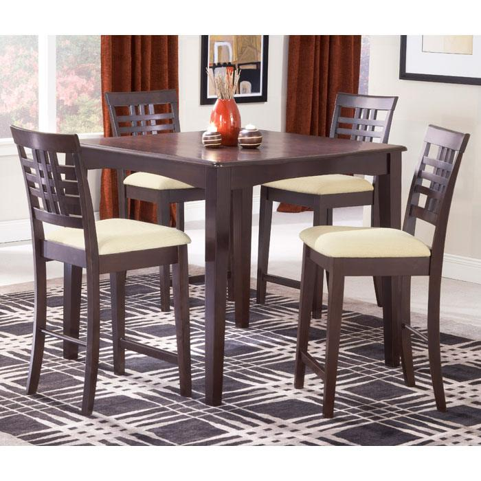 Tiburon 5 Piece Counter Height Dining Set in Espresso