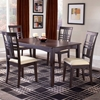 Tiburon Espresso Dining Table with 4 Chairs