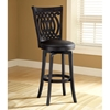 "Van Draus 30"" Black Swivel Bar Stool"