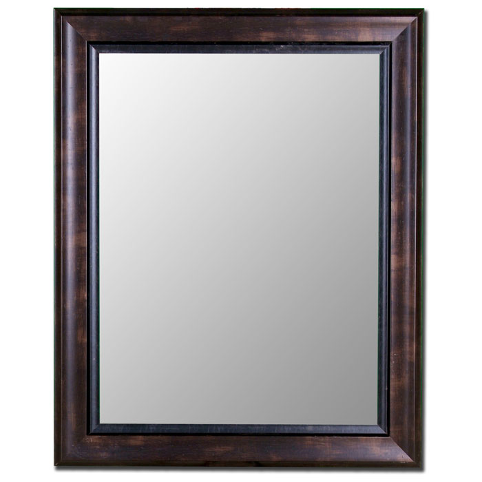 Adana Bevel Mirror in Espresso Walnut with Liner - Made in USA