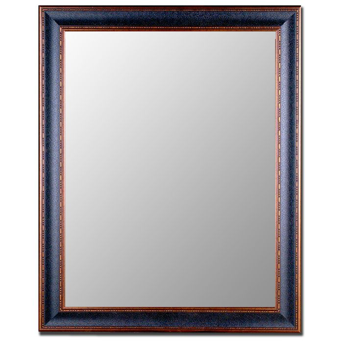 Almon Black and Copper Bevel Mirror - Made in USA