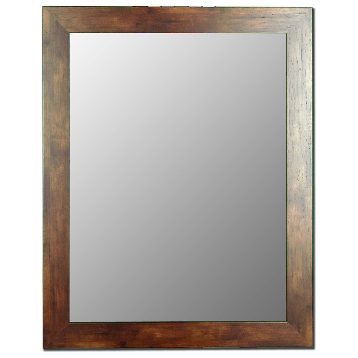Anisa Rectangular Mirror in Mocha Walnut - Made in USA