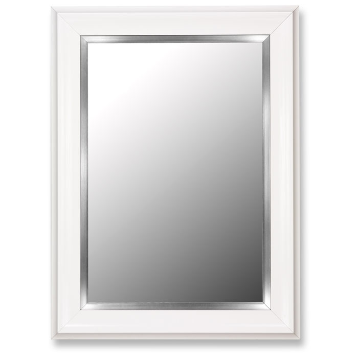 Astera White Frame Mirror with Stainless Liner - Made in USA
