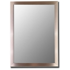 Dharma Bevel Mirror in Silver Stainless - Made in USA