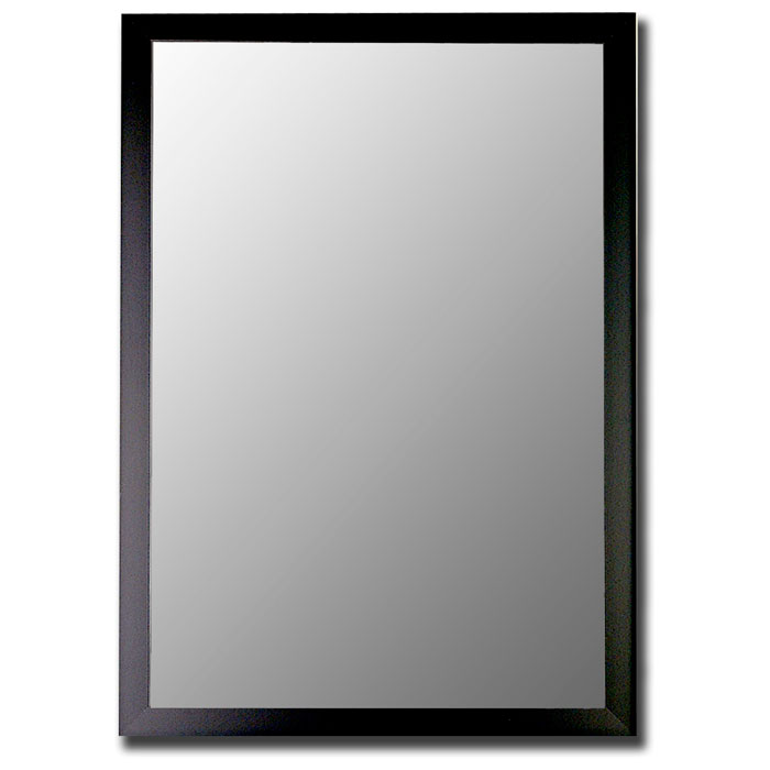 Dudley Bevel Mirror in Matt Black - Made in USA