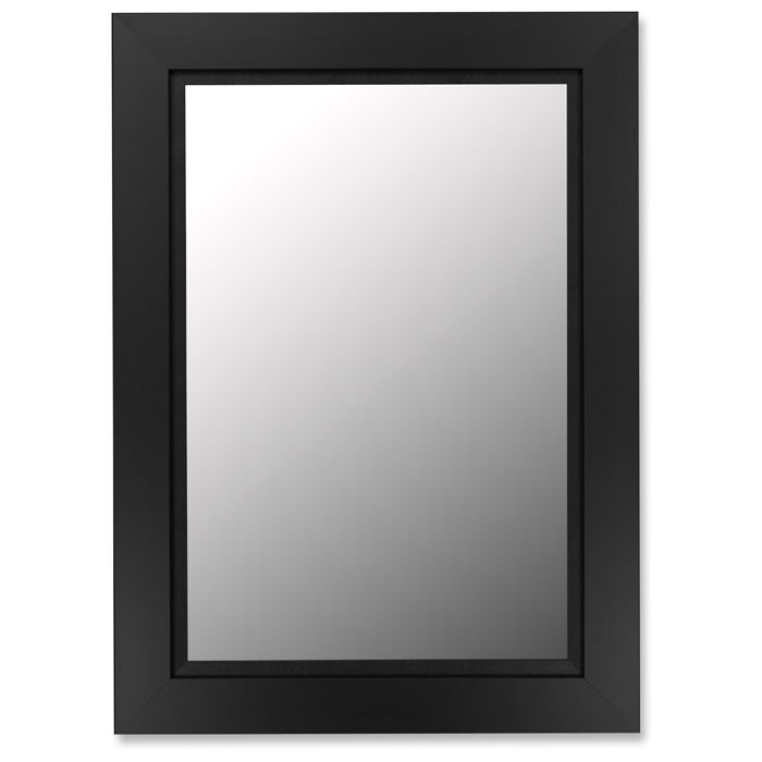 Ives Black Satin Frame Bevel Mirror - Made in USA