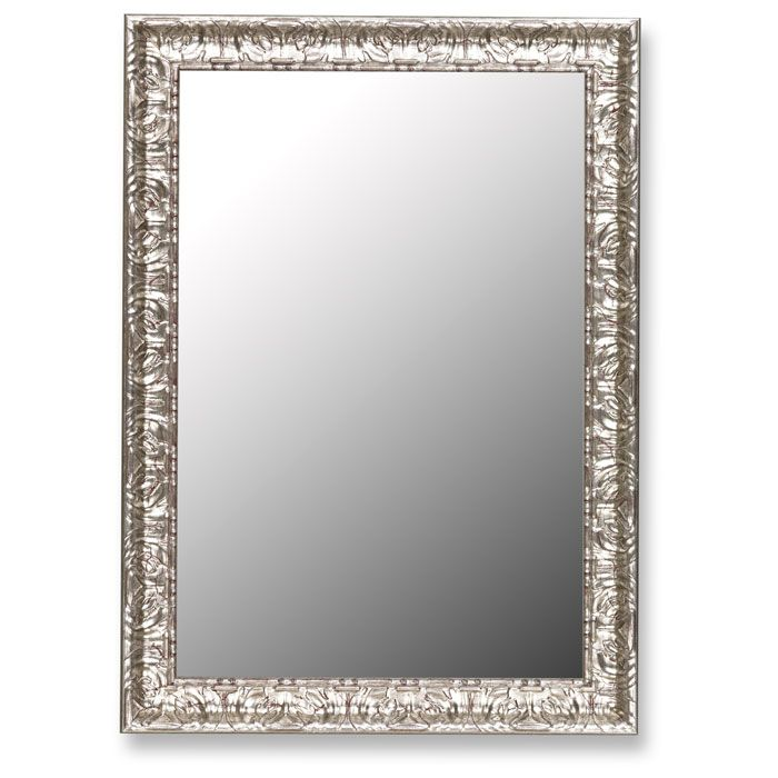Katya Elegant Mirror with Mayan Silver Frame - Made in USA