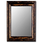 Milford Antique Copper Black Frame Bevel Mirror - Made in USA