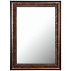 Calandra Mirror - Espresso & Vintage Walnut Frame, Made in USA