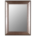 Sonya Bevel Mirror in Antiqued Silver - Made in USA