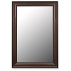 Theron Traditional Bevel Mirror in Mahogany - Made in USA