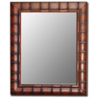 Bertola Fruitwood Bamboo Frame Bevel Mirror - Made in USA
