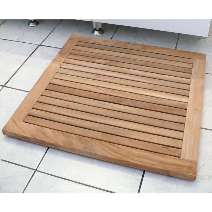 Greenface Square Reclaimed Teak Mat in Natural Finish - INF-11577