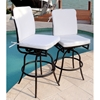 Comfort Care Swivel Counter Stool with Cushions (Set of 2)
