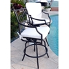 Comfort Care Swivel Bar Stool with Armrests (Set of 2)