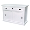 Halifax White Mahogany Buffet with 3 Drawers - INF-12017
