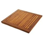 Le Spa Square Teak Floor Mat with Frame