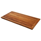 Le Spa Large Rectangle Teak Floor Mat with Frame