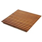 Le Spa Square Teak Floor Mat in Oiled Finish