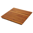 Le Spa 24 Inch Square Teak Floor Mat in Oiled Finish