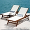 Le Spa Teak Sun Lounge with Mesh Fabric - INF-1774