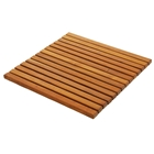 Le Spa Teak Wood Square String Mat