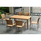 Barcelona Patio Dining Set - Rectangular Table, Honey Wicker