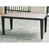 Barcelona Rectangular Dining Table - Black Antique Wicker