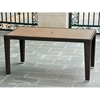 Barcelona Rectangular Dining Table - Chocolate Wicker
