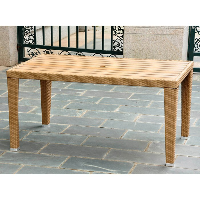 Barcelona Rectangular Dining Table - Honey Wicker