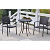 Barcelona Patio Bistro Set - Round Table, Black Antique Wicker