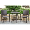 Barcelona Patio Bistro Set - Round Table, Chocolate Wicker