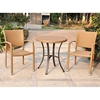 Barcelona Patio Bistro Set - Round Table, Honey Wicker