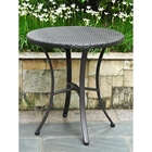 Barcelona Round Bistro Table - Black Antique Wicker
