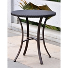 Barcelona Round Bistro Table - Chocolate Wicker