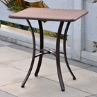 Barcelona Square Patio Bistro Table - Wicker